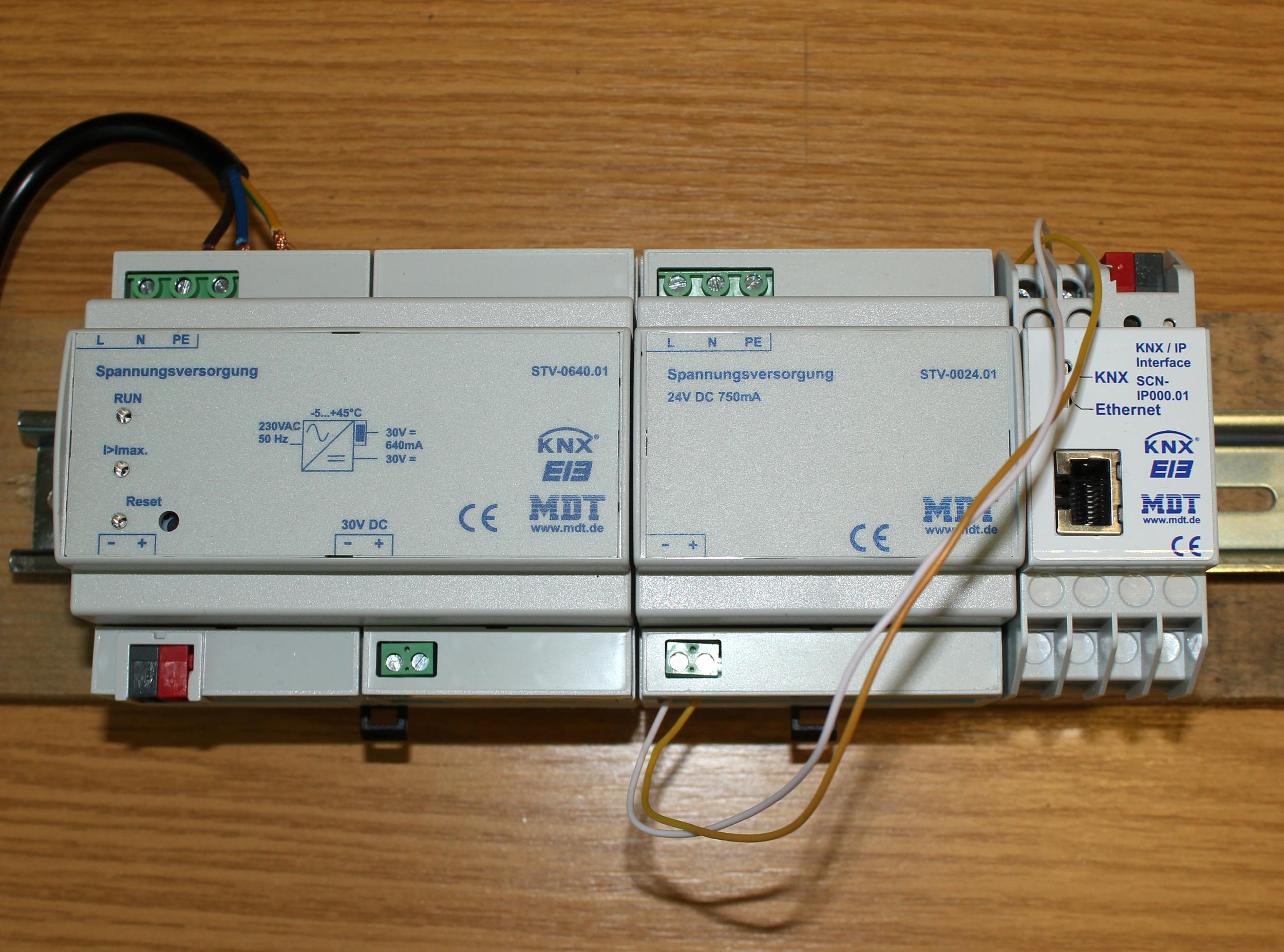 Smart Home Knx Lighting Wiring Diagram Versuchsaufbau Schritt 2